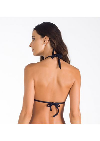 Black textured scarf triangle bikini top - SOUTIEN WUNAND