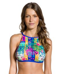Colorful ethnic strappy back crop top - TOP CROPPED ETNICO