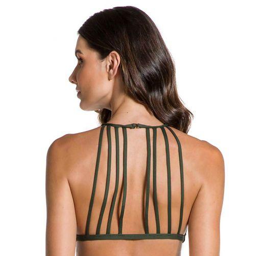 Crop top with multi-straps khaki - TOP CROPPED FLOR DE KAKI