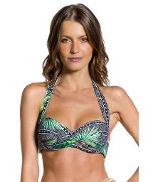 Geometric and tropical print padded balconette - TOP DUNAS MAR