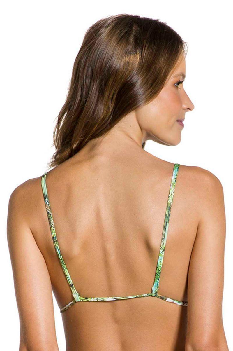 Tropical bikini top with ruffled edges - TOP FRUFRU PARAISO TROPICAL