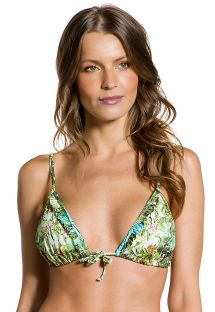Tropical bikini top with ruffled edges - TOP FRUFRU PARAISO TROPICAL