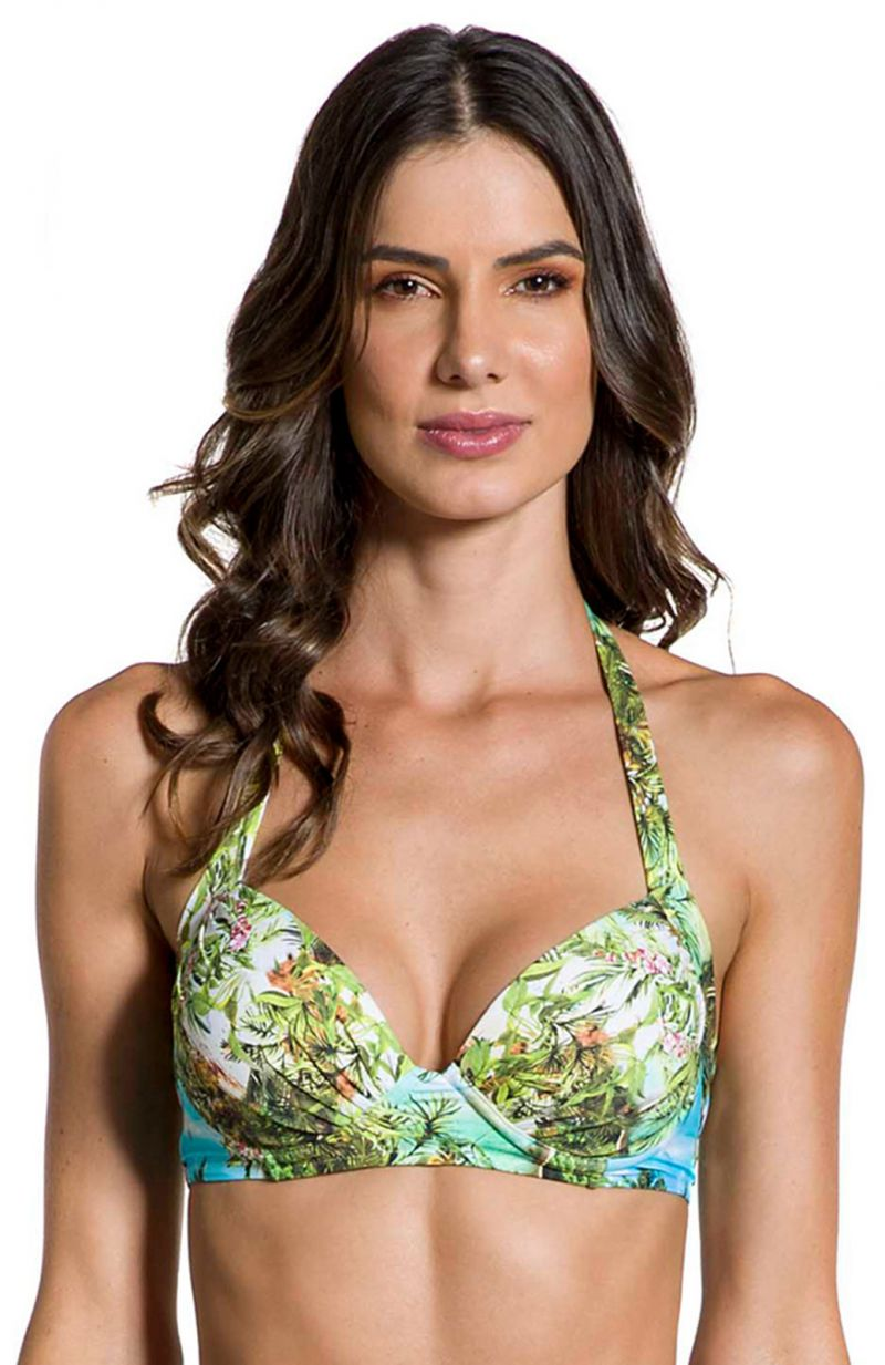 Tropical print underwired bikini top - TOP GRACIA PARAISO TROPICAL
