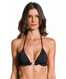 Black wavy triangle top - TOP ONDA PRETO
