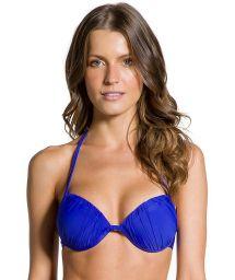 Уплотнённый верх бикини«бальконет» тёмно-синего цвета - TOP PLISSADO COBALT