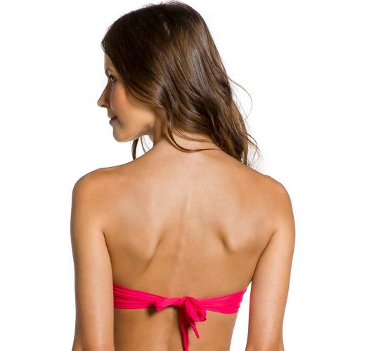 Accessorized dark pink bandeau top - TOP SOL SUNRISE