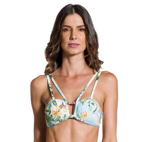 Geblümtes Bustier-Bikini-Top, Strappy-Details - TOP STRAPPY MANHÃ