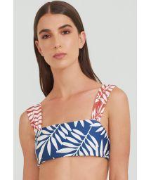 Blue and red foliage bra bikini top - TOP BAND TERRA JUNGLE
