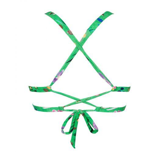 Top triângulo verde - TOP SAFARI TRI LACINHO