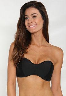 Sort bandeau bikini-top med bindebånd - SOUTIEN DRAGAO