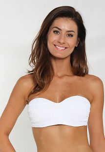 White textured bandeau bikini top - SOUTIEN EXPLORER