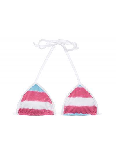 Blå och rosa batikfärgad triangel övredel - SOUTIEN ROSATYE