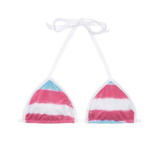Blue and pink tie-dye trianglebikini top - SOUTIEN ROSATYE