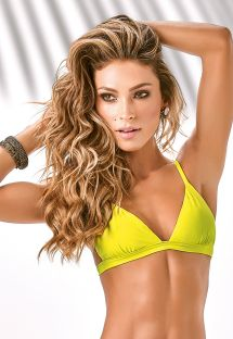 Yellow fixed triangle top with adjustable straps - SOUTIEN TIJUCA
