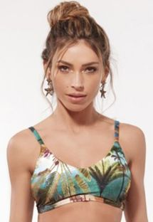 Bra bikini top in tropical print - TOP MARRAKESH TROPICAL