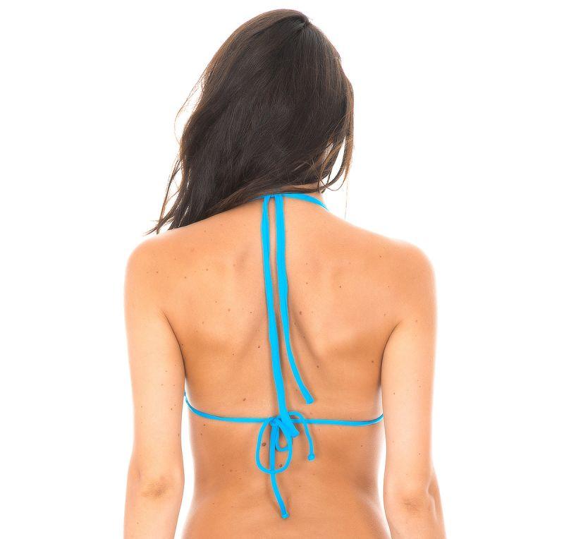 Blå justerbar triangel bikini övredel - BLUE CORTINAO