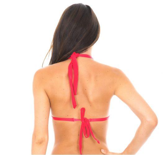 Dark pink padded triangle bikini top - FRUTILLY TRI FIXO