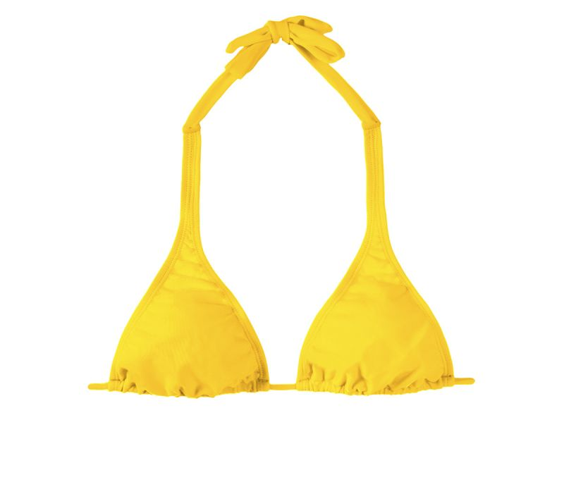 Yellow halterneck triangle swimsuit top - IPE CORTINAO