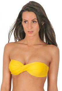 Yellow bandeau bikini top - IPE TORCIDO