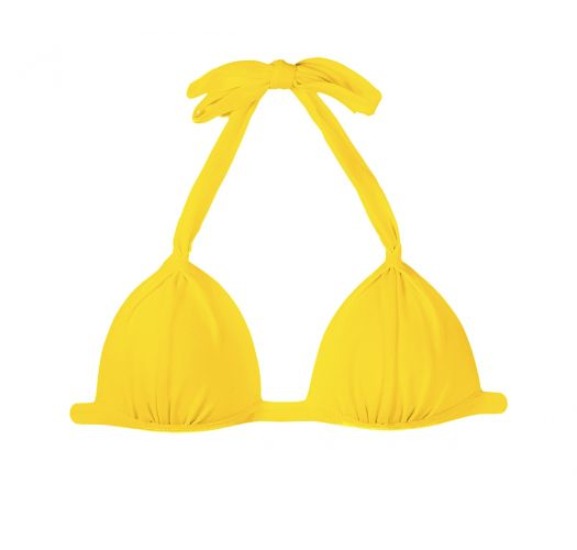 Yellow padded triangle swimsuit top - IPE TRI FIXO