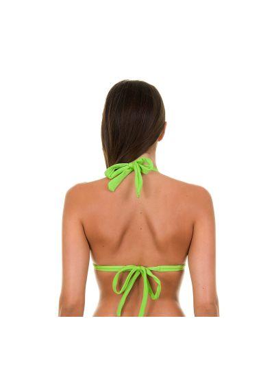 Ljusgrön vadderad triangel bikini övredel - JUREIA TRI FIXO
