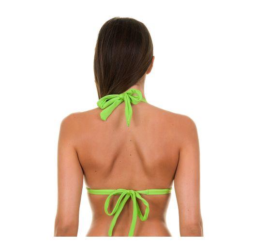 Light green padded triangle bikini top - JUREIA TRI FIXO
