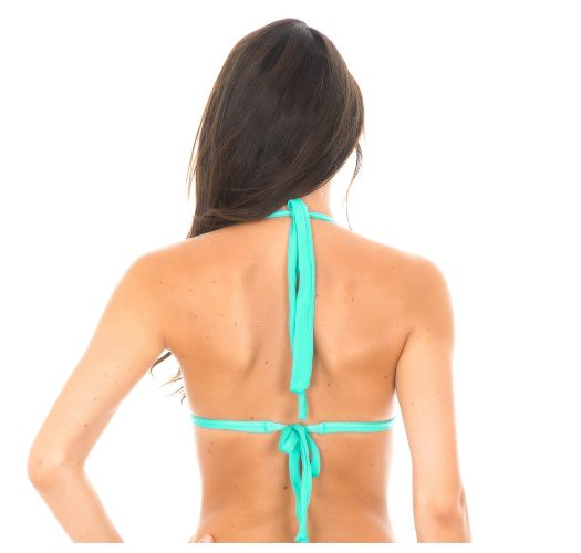 Sea green padded triangle bikini top - MARE TRI FIXO