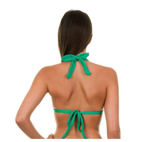 Green padded triangle bikini top - PETERPAN TRI FIXO
