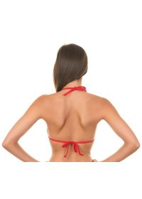 Red sliding triangle swimsuit top - RED CORTININHA