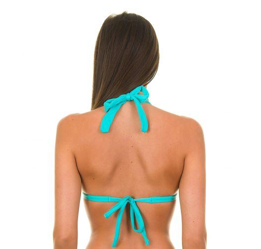Sky blue padded triangle bikini top - SKY TRI FIXO