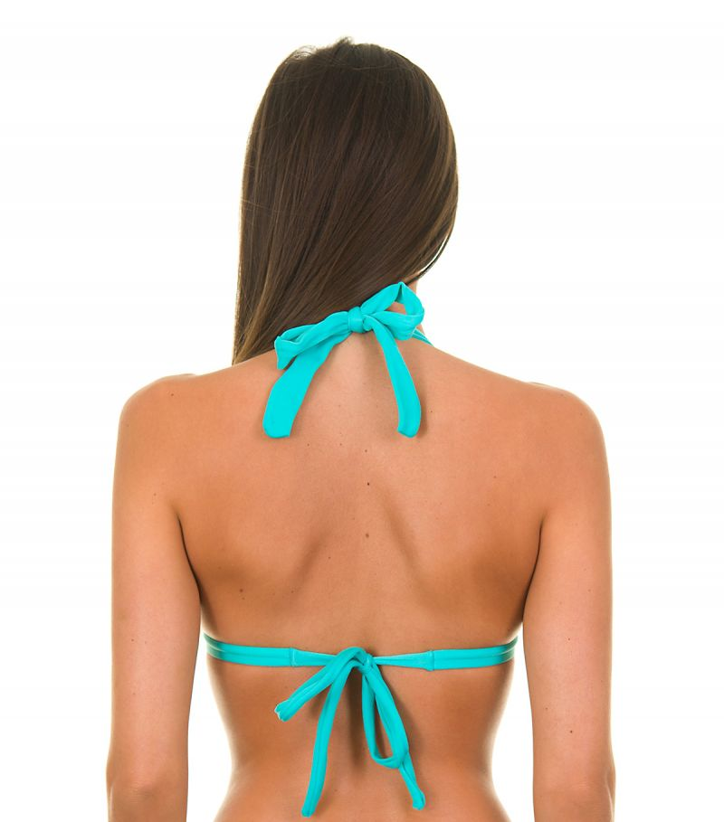 Himmelsblå vadderad triangel bikini övredel - SKY TRI FIXO