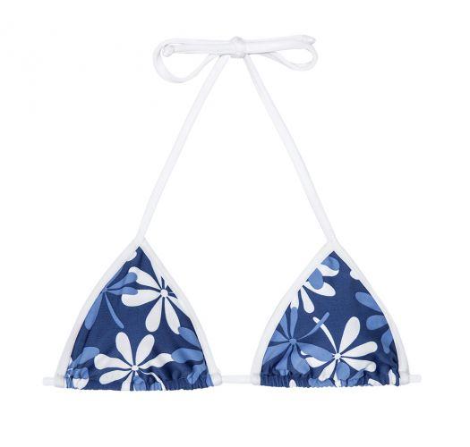 Blue/white floral triangle bikini top - SOUTIEN AGUA VIVA