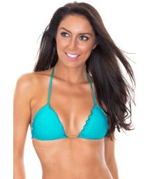 Sky blue bikini top with wavy edges - SOUTIEN AMBRA FRUFRU NANNAI