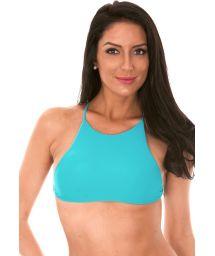 Blue, cross-back bikini cropped top - SOUTIEN AMBRA JUPE NANNAI