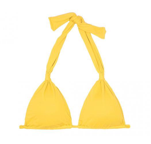 Glidende gul trekant bikini-top med tørklædeeffekt - SOUTIEN AMBRA MEL MELON