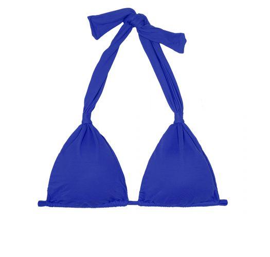 Deep blue sliding scarf triangle top - SOUTIEN AMBRA MEL PLANETARIO