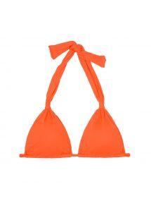 Parte superior de bikini fular con forma triangular naranja - SOUTIEN AMBRA MEL SOMBRERO