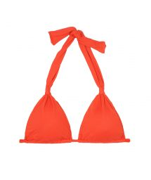 Red scarf triangle top with removable foam - SOUTIEN AMBRA MEL URUCUM