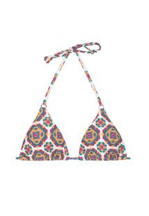 Retro print triangle bikini top - SOUTIEN BEIRA RIO CHEEKY