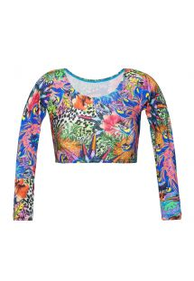Crop top manches longues tropical - SOUTIEN BIGUA TROPICAL