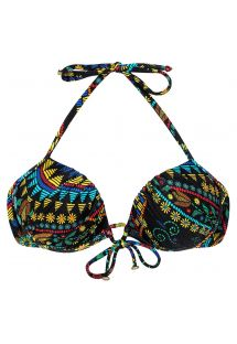 Balconnette push-up swimsuit top with small flowers - SOUTIEN BORDADO BALCONET
