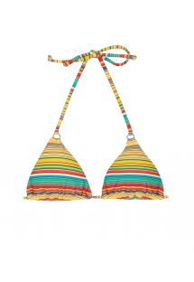 Yellow striped triangle bikini top - SOUTIEN CANARINHO CHEEKY