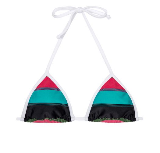 Colourful striped triangle bikini top - SOUTIEN CARANGUEJO