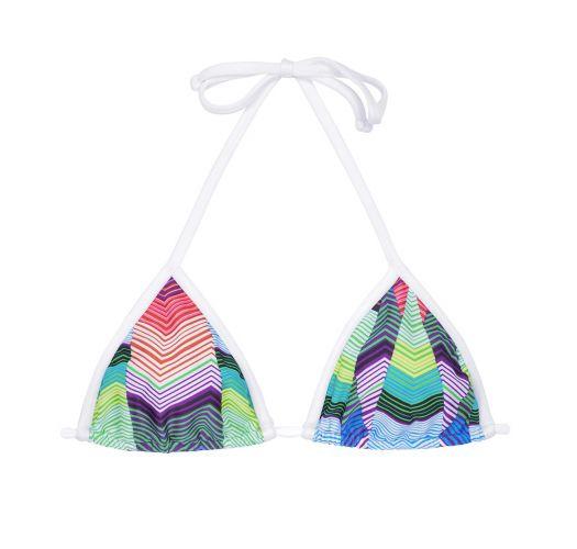 Geometric print triangle swimsuit top - SOUTIEN COXILHA
