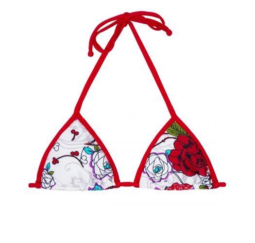 Floral red and white triangle bikini top - SOUTIEN DALIA VERMELHA