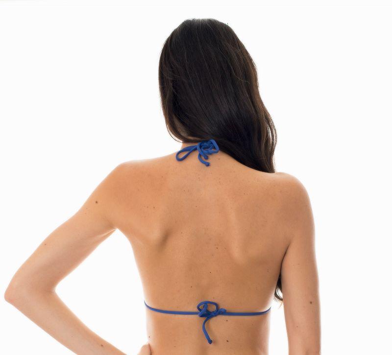 Denim blue triangle top with contrasting neon coloured trim - SOUTIEN DENIM FRUFRU LITORAL