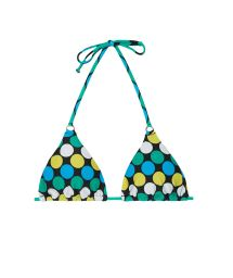 Spotted sliding triangle bikini top - SOUTIEN GALAXY CHEEKY