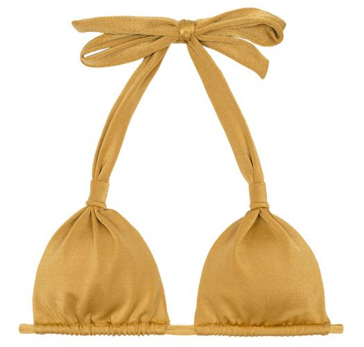 Scarf style sliding gold triangle top - SOUTIEN GOLD CORTINAO