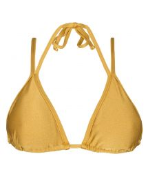Gold double strap triangle bikini top - SOUTIEN GOLD DUO