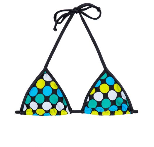 Spotted triangle swimsuit top - SOUTIEN IBITIPOCA